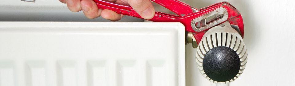 reparatie van CV storing aan radiator